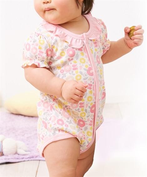 半袖グレコロンパース(前あきタイプ)(女の子 子供服。ベビー...