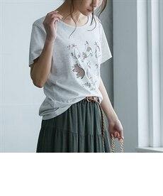 <ニッセン> プリントTシャツ (Tシャツ・カットソー)(レディース)T-shirts 19