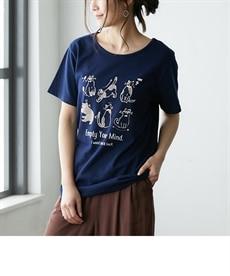 <ニッセン> プリントTシャツ (Tシャツ・カットソー)(レディース)T-shirts 21