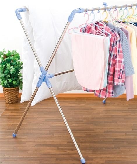 布団も干せる室内物干し伸縮 物干し竿・物干しラック