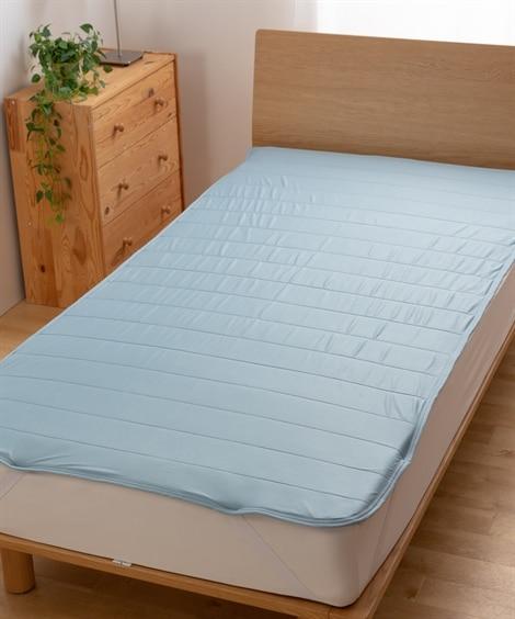 mofua cool  接触冷感 通気性に優れた エアー敷パッド(選べる6サイズ) 敷きパッド・ベッドパッドと題した写真
