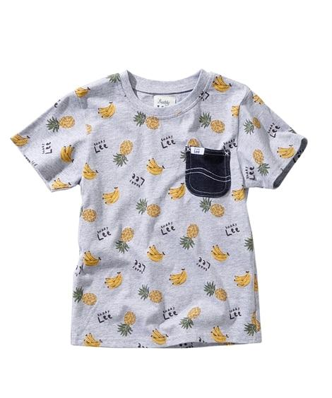 【Buddy Lee(バディ リー)】バナナ&パイナップル総柄半袖Tシャツ(男の子 女の子 ベビー服 子供服) (Tシャツ・カットソー)Kids' T-shirts