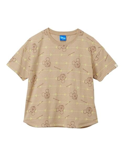 【ディズニー】ラウンドヘム総柄プリント半袖Tシャツ(男の子 女の子 ベビー服 子供服) (Tシャツ・カットソー)Kids' T-shirts