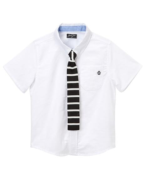 ニットタイ付き半袖シャツ(男の子 ベビー服 子供服) キッズフォーマル, Kid's Suits