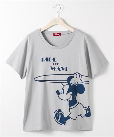 大きいサイズ ディズニー サーフミッキーTシャツ ,スマイルランド, plus size T-shirts,