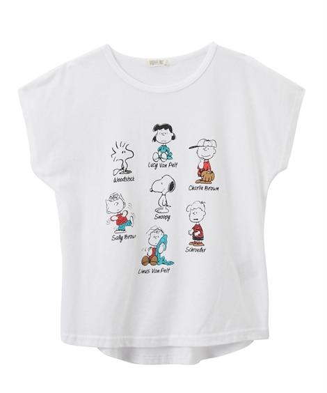 【スヌーピー】半袖Tシャツ(女の子 子供服 ジュニア服) (Tシャツ・カットソー)Kids' T-shirts
