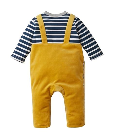 3fdbfa002ef14 ディズニー ミッキー コーデュロイニット長袖カバーオール(男の子 子供服・ベビー服)(ロンパース・