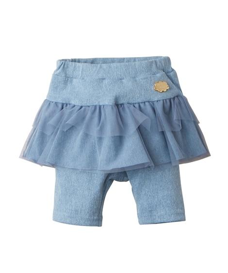 チュール付き5分丈フリルパンツ(女の子 子供服。ベビー服) ...