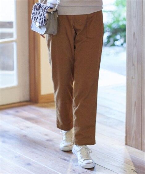 あったか起毛裏地付ベイカーパンツ (レディースパンツ),pants