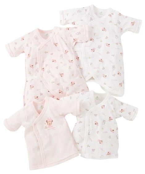 【スヌーピー・ディズニー】短肌着2枚+コンビ肌着2枚セット 【ベビー服】Babywear