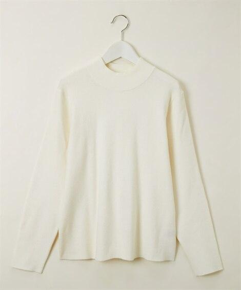 パール調ビジュー使いバックスリットもっちりニット (ニット・セーター)(レディース)Knitting, Sweater,