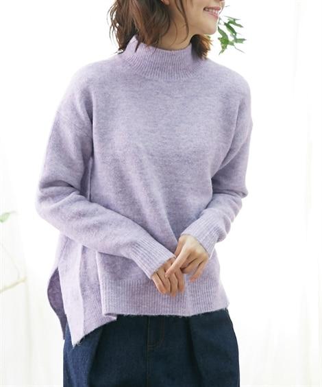 ふわもちゆるシルエットハイネックセーター (ニット・セーター...