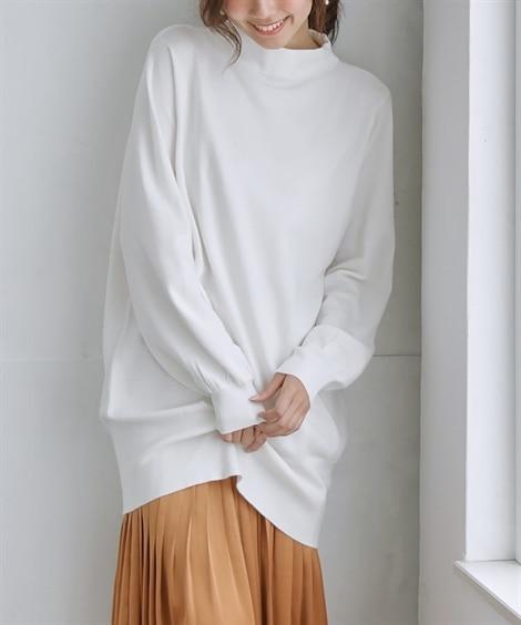 薄いのに暖か♪吸湿発熱チュニックセーター (ニット・セーター...