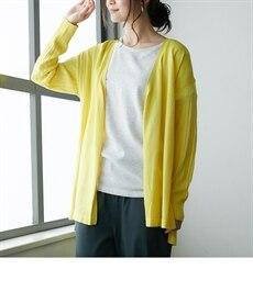 <ニッセン> UVカット。接触冷感Vネックニット (ニット・セーター)(レディース)Knitting 21