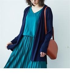 <ニッセン> UVカット。接触冷感Vネックニット (ニット・セーター)(レディース)Knitting 30
