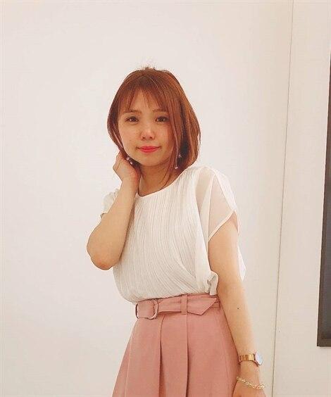 小さいサイズ プリーツシフォンブラウス 【小さいサイズ・小柄...