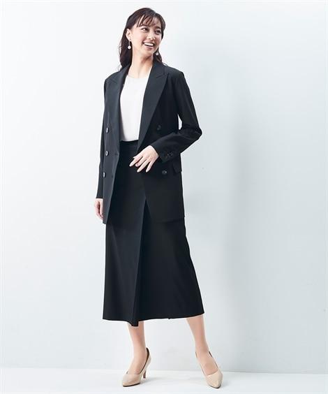 【レディーススーツ】ダブルブレストジャケットスカートスーツ(テーラードジャケット+ロング丈タイトスカート) レディーススーツ, women's suits,  plus size women's suits