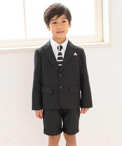 【卒園式。入学式】フォーマルスーツ(ジャケット+5分丈パンツ...