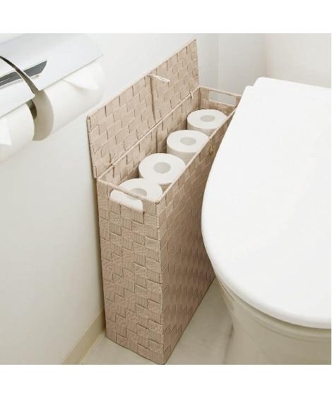目隠し収納スリムボックス【幅14cm】 トイレ収納の写真
