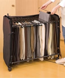 スラックス収納ハンガー(カバー付) 衣類ハンガーの商品画像