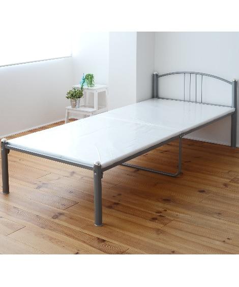 ベッド下に収納がたくさんできる太パイプベッド ベッド(ニッセ...