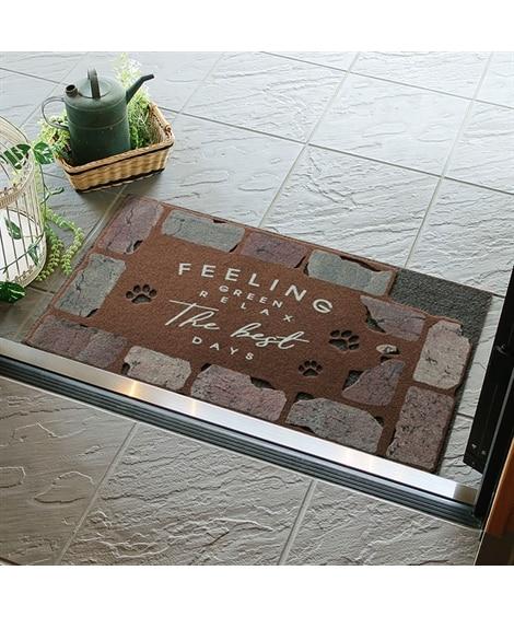 アニマルモチーフがやさしい屋外玄関マット(屋内。屋外兼用) ...