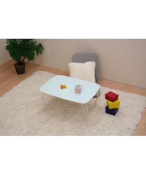 <ニッセン> キュートなパステルカラーの猫脚テーブル ローテーブル・リビングテーブル 価格:4298円商品画像