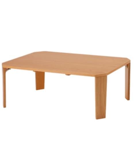 天然木オーク材折りたたみテーブル ローテーブル・リビングテー...
