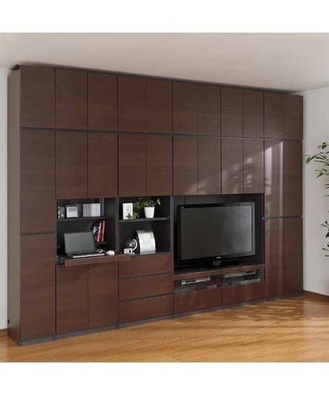 【荷造送料0円実施中】大容量な収納力の壁面収納 テレビ台