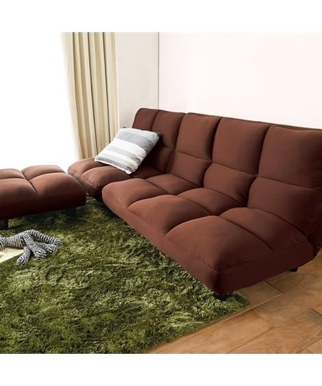 座り心地重視の低反発ローソファー3点セット ソファーの写真