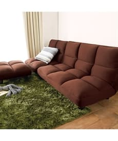 座り心地重視の低反発ローソファー3点セット ソファーの商品画像