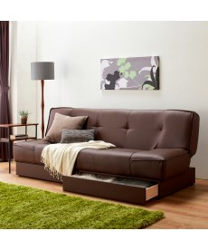 引き出し付合皮ソファーベッド ソファーベッド(ニッセン家具)の商品画像
