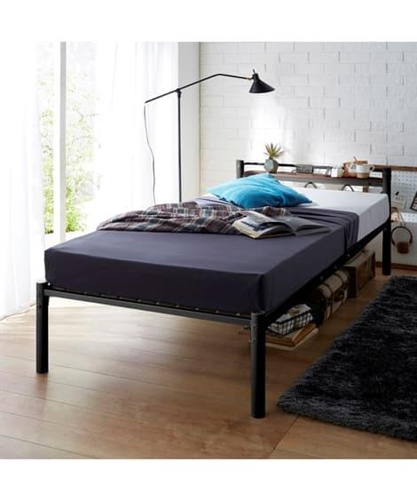 木棚。コンセント付パイプベッド ベッド(ニッセン家具)