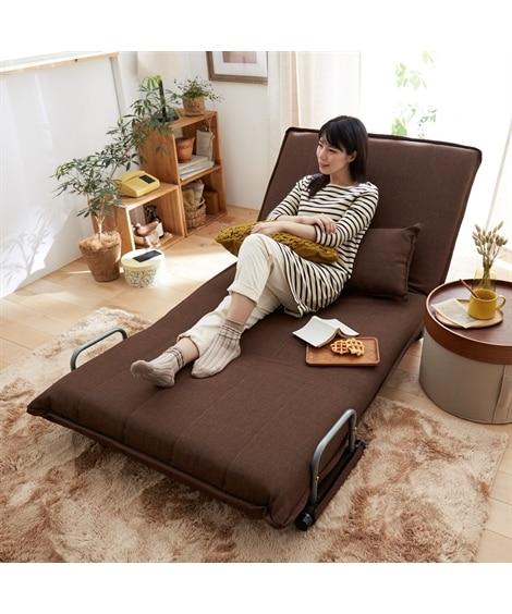 キャスター付3WAYソファーベッド ソファー...