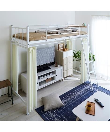 ロータイプベッドにもなるロフトベッド ロフトベッド・2段ベッドの写真