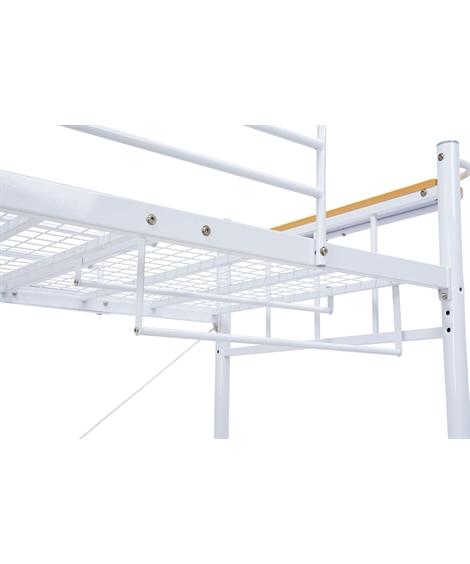 階段付きロフトベッド専用ハンガーポール(4本セット) ロフト...