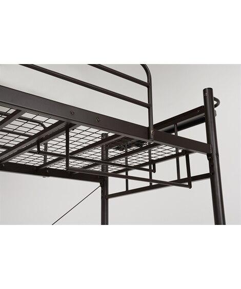階段付ロフトベッド専用ハンガーポール(4本セット) ロフトベ...