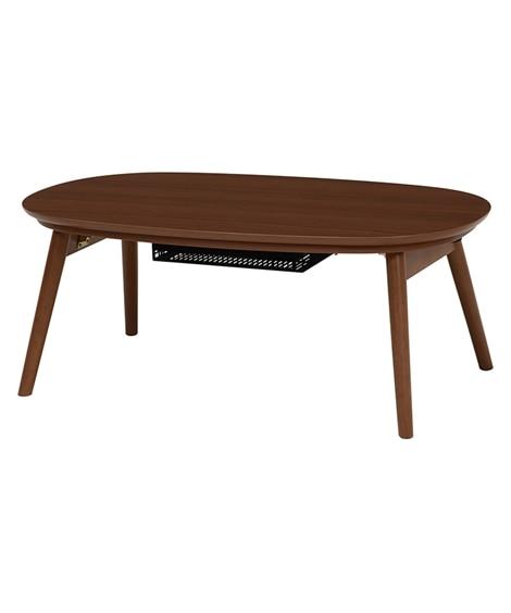 コンパクトサイズの折れ脚こたつテーブル こたつ...