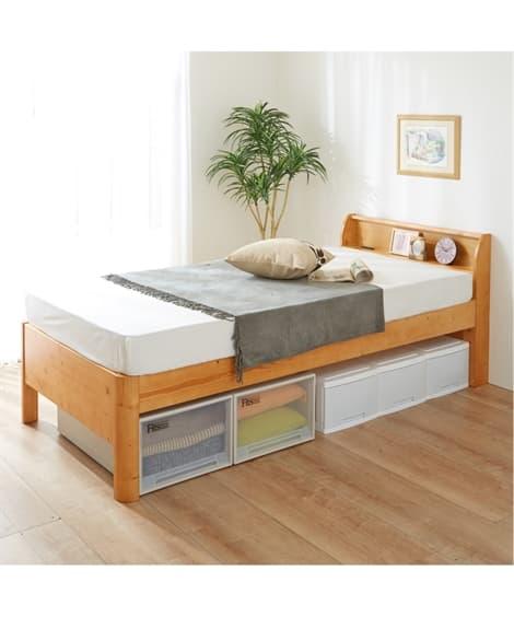 高さ3段階調節ができる棚付きすのこベッド すのこベッド・畳ベッド, Beds(ニッセン、nissen)