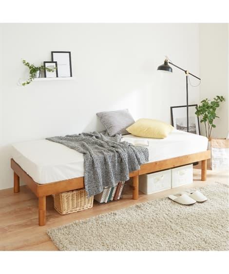 高さが3段階調節できるすのこベッド 折りたたみベッド・リクラ...