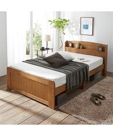 天然木パイン材高さが変えられる宮付ベッド すのこベッド・畳ベッドの写真