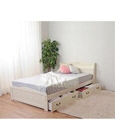 引き出し付フェミニンベッド 収納付きベッドの商品画像