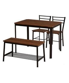 【お買い得】カフェ風ダイニング4点セット(ベンチタイプ) ダイニングテーブルセットの商品画像