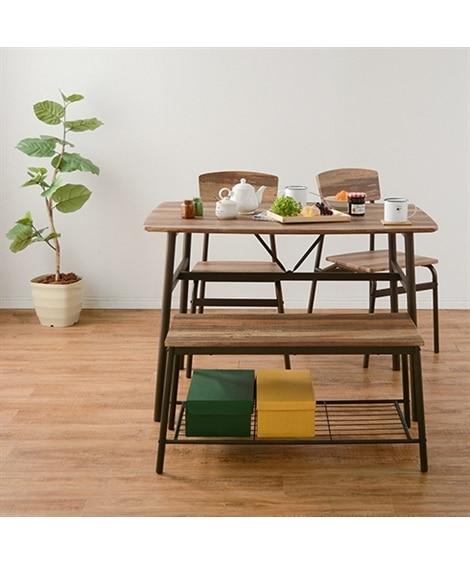 【お買い得】古木風でスタイリッシュなダイニング4点セット ダイニングテーブルセット, Tables(ニッセン、nissen)