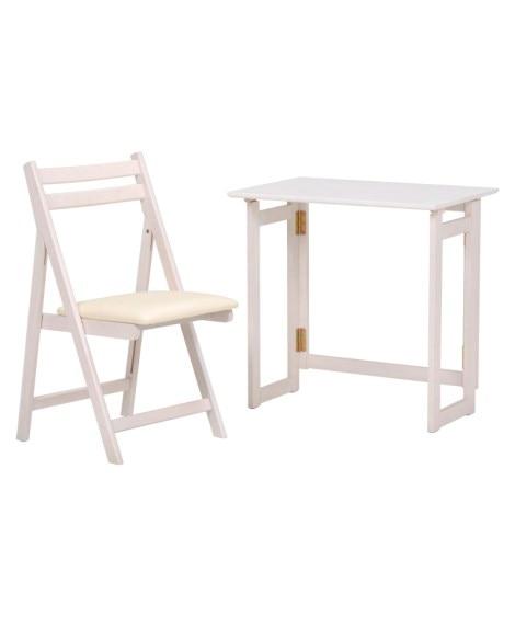 折りたたみテーブル&チェアセット デスク・机・ワークテーブル...