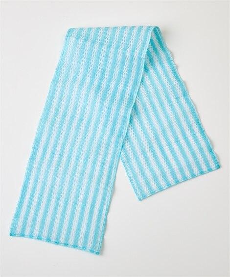 天然綿のボディタオル(しっかりメッシュ編み) バス・洗面用品...