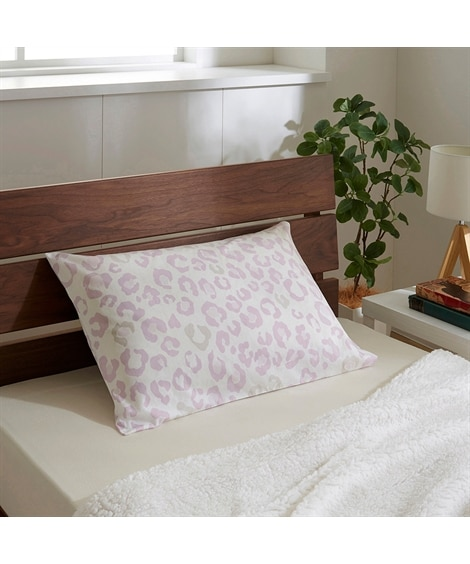 【西川】orne オルネ 日本製綿100%枕カバー(ヒョウ柄) 枕カバー・ピローパッドの写真