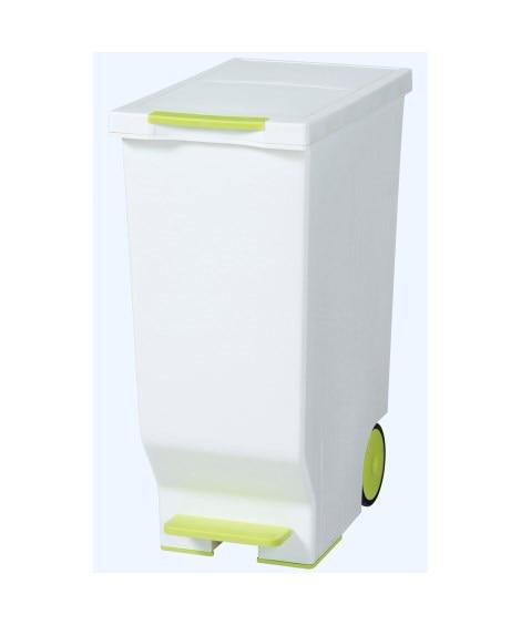 ペダルで開閉できるスライド式ダストボックス45L ゴミ箱・ダ...