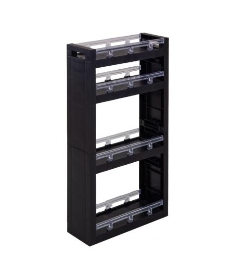 キャスター付き棚が可動できる隙間ラック すき間収納・デッドスペース収納, Storages(ニッセン、nissen)
