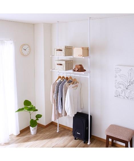 伸縮式突っ張り収納ハンガーラック ハンガーラック・ワードローブ, Clothes racks(ニッセン、nissen)